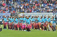 VOETBAL: HEERENVEEN, 18-08-2013, SC Heerenveen - Heracles 2-4, Optreden in de pauze van het nationaal voetbalteam van Tuvalu, ©foto Martin de Jong