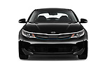 Car photography straight front view of a 2019 KIA Optima Plug-In Hybrid EX 4 Door Sedan