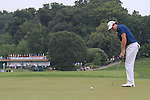Rory McIlroy (NIR) sinking his putt on the 1st.on day one of the USGA at Congressional country club, Bethesda, Washington, 16/6/11.Picture Fran Caffrey/www.golffile.ie