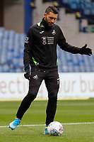 Borja Baston of Swansea City warms up prior to the game during the Sky Bet Championship match between Sheffield Wednesday and Swansea City at Hillsborough Stadium, Sheffield, England, UK. Saturday 09 November 2019