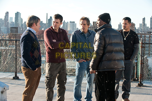 MATTHEW BRODERIICK, CASEY AFFLECK, BEN STILLER, EDDIE MURPHY & MICHAEL PENA.in Tower Heist.*Filmstill - Editorial Use Only*.CAP/FB.Supplied by Capital Pictures.