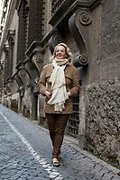 Designer Alessandra Branca near her apartment in Rome.