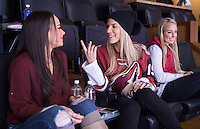 "Phoenix, AZ - December 11, 2015:  Julie Johnston was invited by the Phoenix Coyotes to start their game with the ""Top Dog Howl of the Game"" at Gila River Arena."