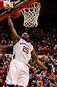 18 February 2012: Caleb Walker #25 of the Nebraska Cornhuskers dunks the ball after dribbling the whole court against the Fighting Illini at the Devaney Sports Center in Lincoln, Nebraska.  Nebraska defeated Illinois 80 to 57.