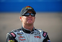 Nov. 13, 2009; Avondale, AZ, USA; NASCAR Camping World Truck Series driver Timothy Peters during qualifying prior to the Lucas Oil 150 at Phoenix International Raceway. Mandatory Credit: Mark J. Rebilas-
