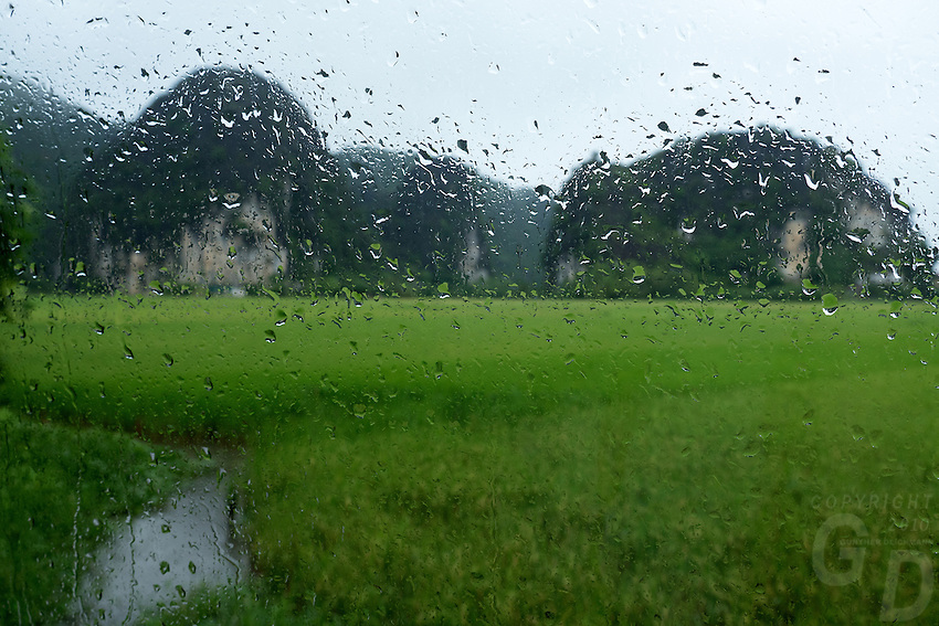 Monsoon Season in North Vietnam, Ninh Binh Landscape,