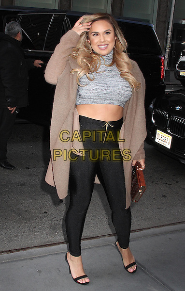 NEW YORK, NY - JANUARY 7: Kristinia DeBarge spotted arriving at SiriusXM studios in New York, New York on January 7, 2016. <br /> CAP/MPI/RMP<br /> &copy;RMP/MPI/Capital Pictures