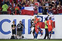 Action photo during the match Chile vs Panama at Lincoln Financial Field Stadium Copa America Centenario 2016. ---Foto  de accion durante el partido Chile vs Panama , En el Estadio Lincoln Financial Field Partido Correspondiante al Grupo - D -  de la Copa America Centenario USA 2016, en la foto: festejo de gol de Alexis Sanchez<br /> <br /> --- - 14/06/2016/MEXSPORT/Javier Ramirez.
