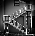 Stair case with geometric shapes