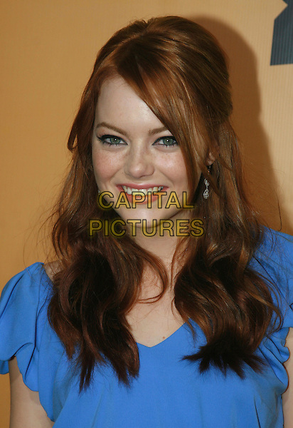 """EMMA STONE .""""Superbad"""" Los Angeles Premiere held at Grauman's Chinese Theatre,  Hollywood, California, USA,.13 August 2007..portrait headshot.CAP/ADM/CH.©Charles Harris/AdMedia/Capital Pictures."""