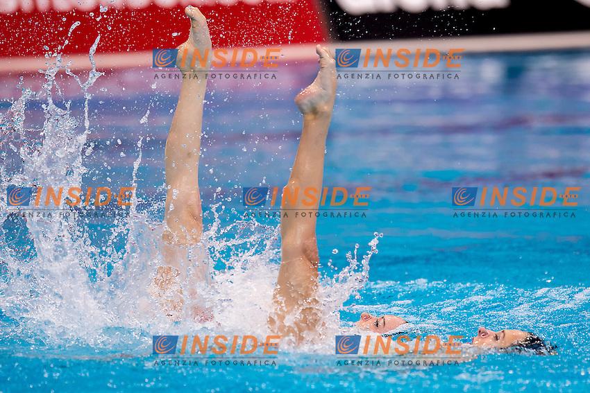 FEDERICI Olivia  GBR CLARK Katie  GBR<br /> London, Queen Elizabeth II Olympic Park Pool <br /> LEN 2016 European Aquatics Elite Championships <br /> Synchronised Swimming Synchro Duet Tech<br /> Day 06 13-05-2016<br /> Photo Giorgio Scala/Deepbluemedia/Insidefoto