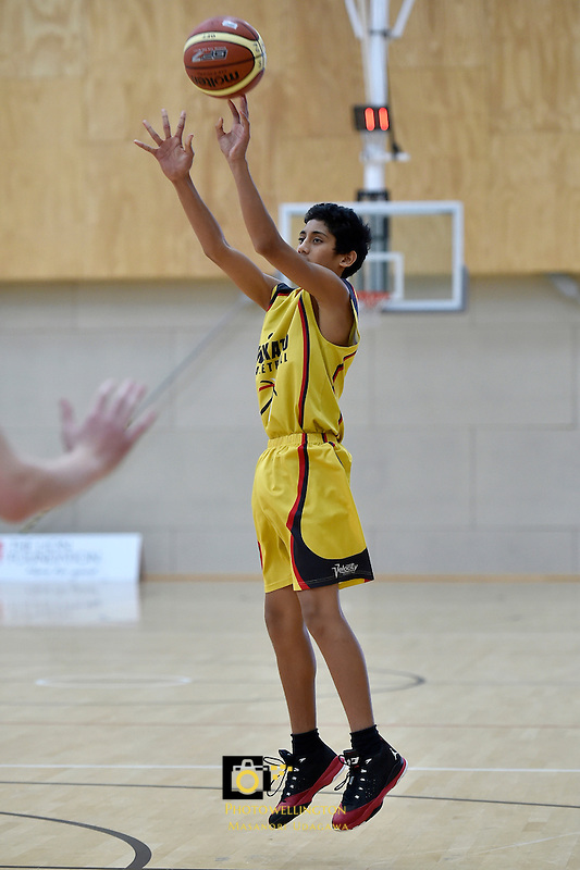 Action from the Basketball -  U15 National Championships at ASB Sports Centre, Wellington, New Zealand on Wednesday 15 July 2015.<br /> Photo by Masanori Udagawa. <br /> www.photowellington.photoshelter.com.
