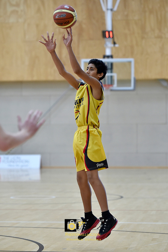 Action from the Basketball -  U15 National Championships at ASB Sports Centre, Wellington, New Zealand on Wednesday 15 July 2015.<br /> Photo by Masanori Udagawa. <br /> www.photowellington.photoshelter.com.