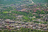 Aerial of Boulder, Colorado. May 2013.