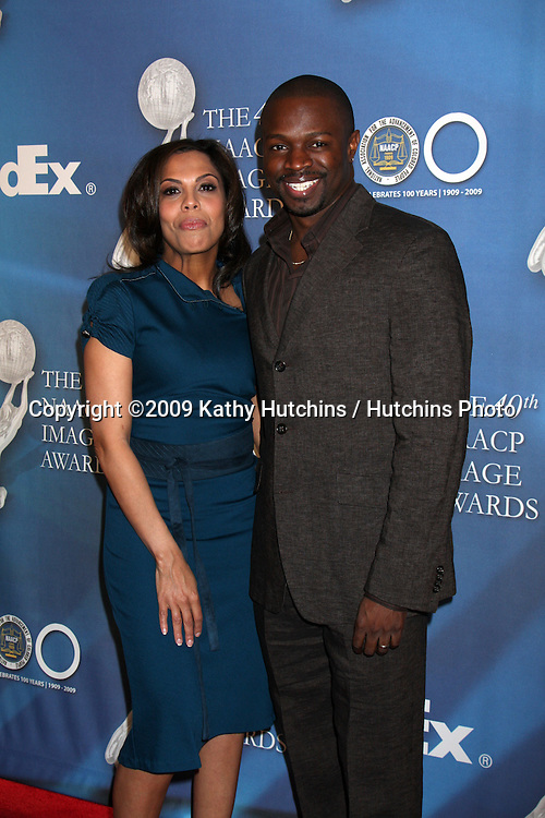 Sean Patrick Thomas & wife  arriving at the NAACP Luncheon  at the Beverly Hills Hotel in Beverly Hills, CA on .February 7, 2009.©2009 Kathy Hutchins / Hutchins Photo..