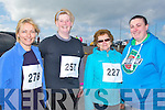 RUNNERS: Teresa Christie,Cara Flahive, Chris Murnane and Paula O'Sullivan, who ran in the Kerryhead Resourse CentreFundraising run on Sunday in Ballyheigue.
