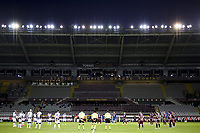 Players and judges respect a minute of silence in memory of the victims of Coronavirus during the Serie A football match between Torino FC and Udinese at Olimpico stadium in Torino ( Italy ), June 23th, 2020. Play resumes behind closed doors following the outbreak of the coronavirus disease. <br /> Photo Image Sport / Insidefoto
