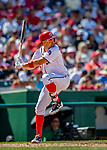 14 April 2018: Washington Nationals first baseman Ryan Zimmerman pinch hits for Max Scherzer in the 7th inning against the Colorado Rockies at Nationals Park in Washington, DC. The Nationals rallied to defeat the Rockies 6-2 in the 3rd game of their 4-game series. Mandatory Credit: Ed Wolfstein Photo *** RAW (NEF) Image File Available ***