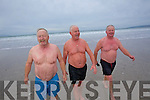 Brothers Liam, Eddie and Morgan, Stack who formed the Banna polar bears swimming club on the night of the millenium.