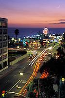 Santa Monica Pier Vertical Sunset