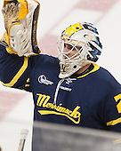 Joe Pantalone (Merrimack - 29) - The Boston College Eagles defeated the visiting Merrimack College Warriors 2-1 on Wednesday, January 21, 2015, at Kelley Rink in Conte Forum in Chestnut Hill, Massachusetts.
