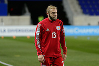 Harrison, NJ - Wednesday Feb. 22, 2017: Mike Grella prior to a Scotiabank CONCACAF Champions League quarterfinal match between the New York Red Bulls and the Vancouver Whitecaps FC at Red Bull Arena.