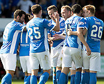 Partick Thistle v St Johnstone&hellip;10.09.16..  Firhill  SPFL<br />Steven Andersobn celebrates his goal<br />Picture by Graeme Hart.<br />Copyright Perthshire Picture Agency<br />Tel: 01738 623350  Mobile: 07990 594431