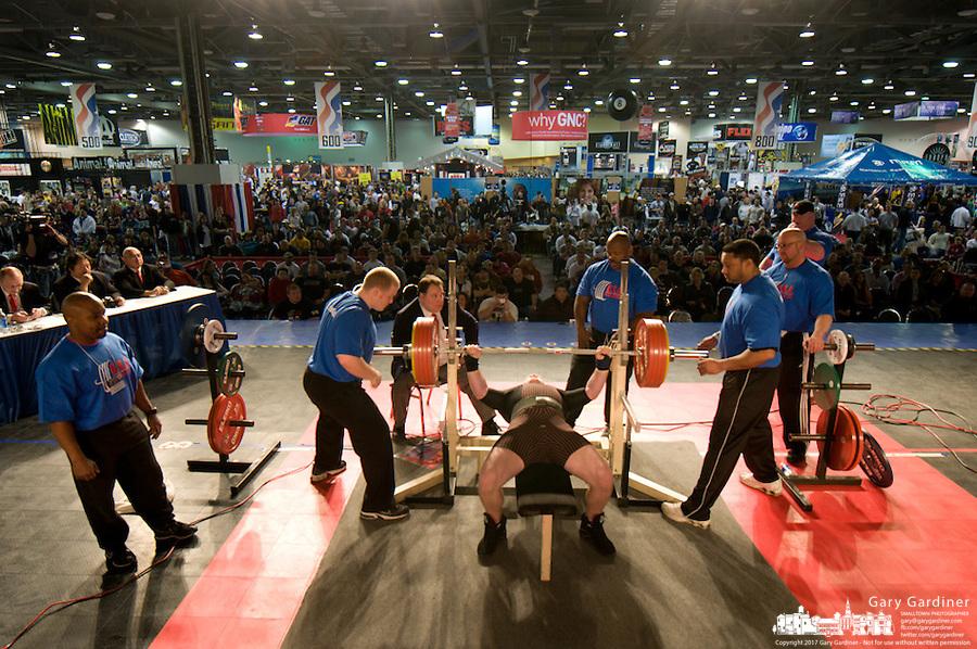Mens powerlifting at 2008 Arnold sports Festival. Photo Copyright Gary Gardiner.