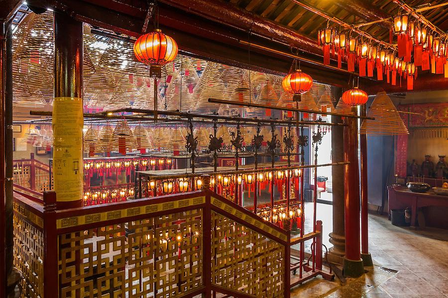 Man Mo Temple Interior.