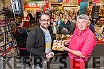 Darragh Freeman, Ballybeggan Helps Martin Shanahan with the  Cooking demo at Garvey's SuperValu, Food & Wine Fair on Tuesday