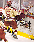 Andrew Thomas, Nick Scheible - The Ferris State Bulldogs defeated the University of Denver Pioneers 3-2 in the Denver Cup consolation game on Saturday, December 31, 2005, at Magness Arena in Denver, Colorado.