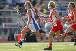 Placentia, CA 05/14/10 - Julie Crowell (Los Alamitos # 8) and Allison Field (Redondo #14) in action during the 2010 CIF Girls Lacrosse Championship game between Redondo Union and Los Alamitos, Los Alamitos defeated Redondo 24-7.