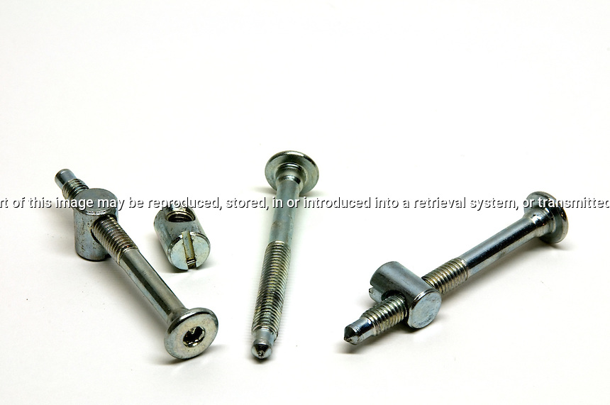Three knock down fittings for furniture