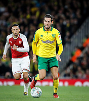 Mario Vrancic of Norwich City during the Carabao Cup match between Arsenal and Norwich City at the Emirates Stadium, London, England on 24 October 2017. Photo by Carlton Myrie.