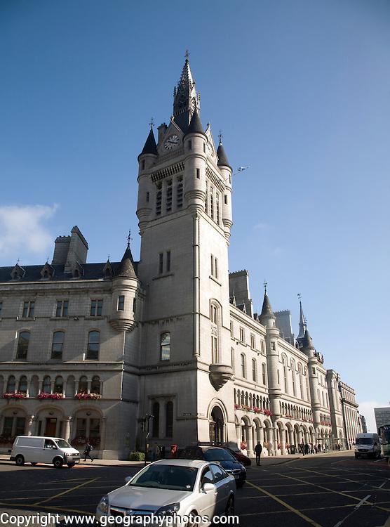 Town House clock tower, Union Street, Aberdeen, Scotland