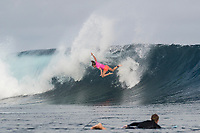 /NAMOTU, Fiji (Tuesday, May 30, 2017) Courtney Conlogue (USA)  - The Outerknown Fiji Women&rsquo;s Pro, Stop No. 5 on the 2017 World Surf League (WSL) Championship Tour (CT), got underway today with Round 1 starting at 8:05 a.m. local time at Cloudbreak in building three-to-four foot surf.<br /> <br /> The conditions had definitely improved at Cloudbreak overnight and organisers pressed right through the day to complete Rounds 1,2 and 3. Conditions varied because of the winds and the tide with long lulls around the afternoon low tide. Completion wrapped up at 5pm local time.<br />  Photo: joliphotos.com