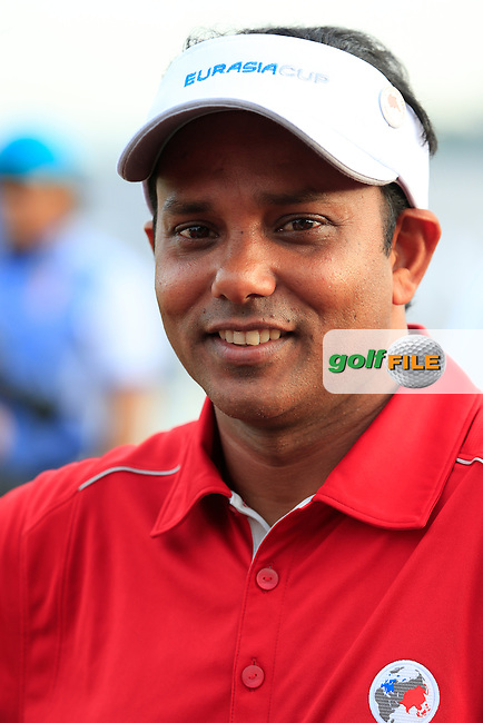 SSP Chawrasia (IND) Asian Team during Pro-Am Day of the 2016 Eurasia Cup held at the Glenmarie Golf &amp; Country Club, Kuala Lumpur, Malaysia. 14th January 2016.<br /> Picture: Eoin Clarke | Golffile<br /> <br /> <br /> <br /> All photos usage must carry mandatory copyright credit (&copy; Golffile | Eoin Clarke)