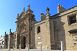 Historic church facade, Iglesia Mayor Prioral, Puerto de Santa Maria, Cadiz province, Spain