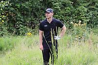 Scott Henry (SCO) in the trees from the tee on the 18th hole during Sunday's Final Round of the Northern Ireland Open 2018 presented by Modest Golf held at Galgorm Castle Golf Club, Ballymena, Northern Ireland. 19th August 2018.<br /> Picture: Eoin Clarke | Golffile<br /> <br /> <br /> All photos usage must carry mandatory copyright credit (&copy; Golffile | Eoin Clarke)