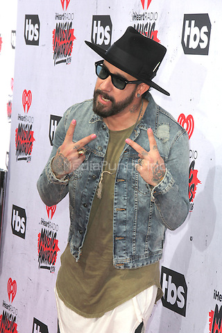 INGLEWOOD, CA - APRIL 3: AJ McLean at the iHeartRadio Music Awards at The Forum on April 3, 2016 in Inglewood, California. Credit: David Edwards/MediaPunch