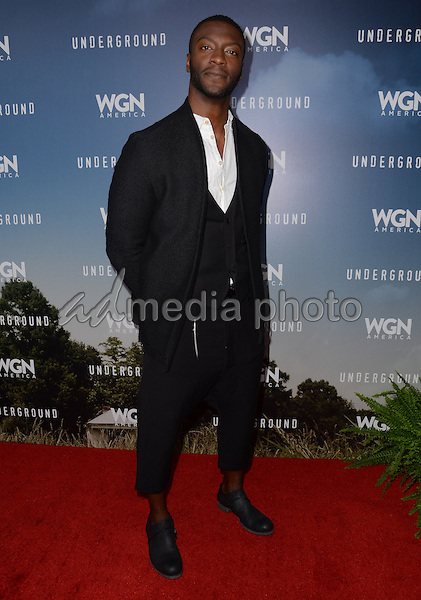"08 January  - Pasadena, Ca - Aldis Hodge. Arrivals for the WGN America Winter TCA Tour ""Underground"" held at The Langham Hotel. Photo Credit: Birdie Thompson/AdMedia"