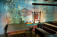 Schollroom in the Saxon Fortified church of Prejmer, Transylvania