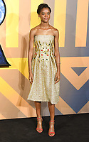 """Letitia Wright<br /> arriving for the """"Black Panther"""" premiere at the Hammersmith Apollo, London<br /> <br /> <br /> ©Ash Knotek  D3376  08/02/2018"""