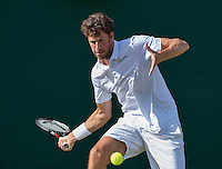 London, England, 27 june, 2016, Tennis, Wimbledon, Robin Haase (NED) in his match against Diego Swartzman (ARG)<br /> Photo: Henk Koster/tennisimages.com