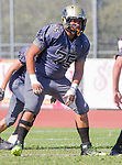 Palos Verdes, CA 09-07-18 - Carlos Ocegueda (Peninsula #75) in action during the Torrance - Palos Verdes Peninsula Varsity football game.