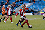 Jade Pennock of Sheffield Utd scores her goal during the The FA Women's Championship match at the Proact Stadium, Chesterfield. Picture date: 8th December 2019. Picture credit should read: Simon Bellis/Sportimage
