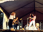 Led Zeppelin 1969 Robert Plant, John Paul Jones, Jimmy Page and John Bonham at the Bath Festival.© Chris Walter.