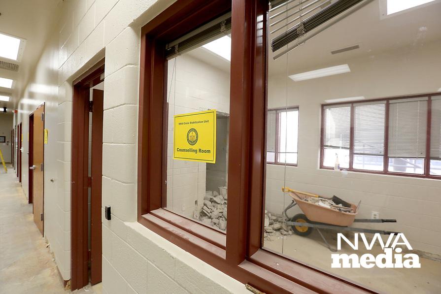 NWA Democrat-Gazette/DAVID GOTTSCHALK Renovation work continues Friday, April 12, 2019, at the new Washington County Crisis Stabilization Unit in Fayetteville. The unit was the former  Washington County Emergency Operations Center.