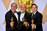 Gregg Landaker, Gary A. Rizzo &amp; Mark Weingarten at the 90th Academy Awards Awards at the Dolby Theartre, Hollywood, USA 04 March 2018<br /> Picture: Paul Smith/Featureflash/SilverHub 0208 004 5359 sales@silverhubmedia.com