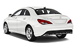 Car pictures of rear three quarter view of 2016 Mercedes Benz CLA Class CLA250 4 Door Sedan Angular Rear